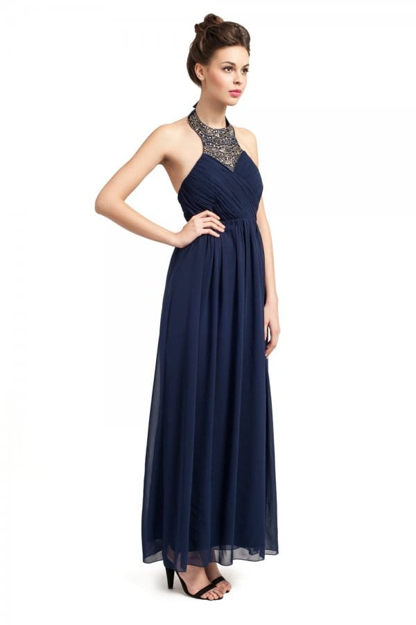 Maxi dresses with sleeves for weddings with sleeves for Navy blue maxi dress for wedding