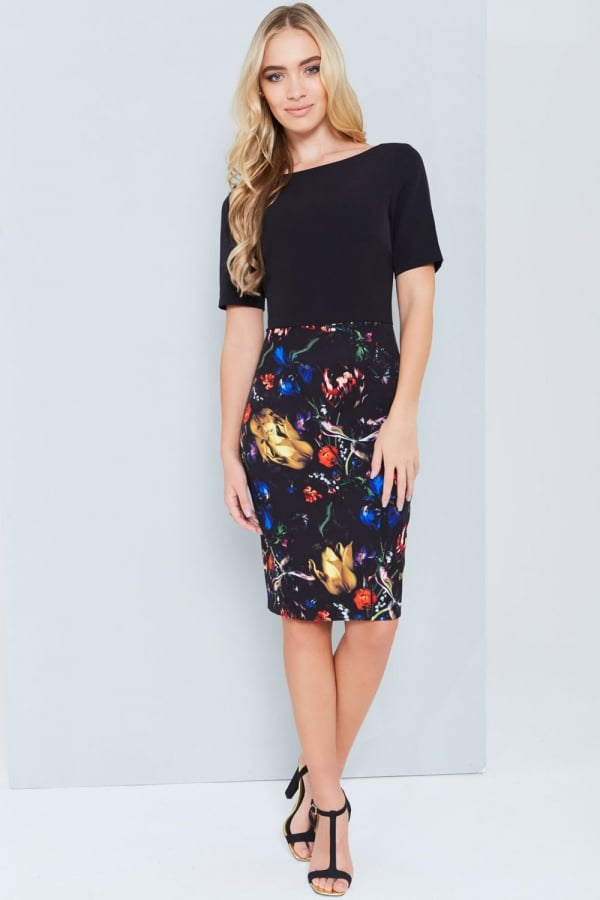 Abstract Print 2 In 1 Dress