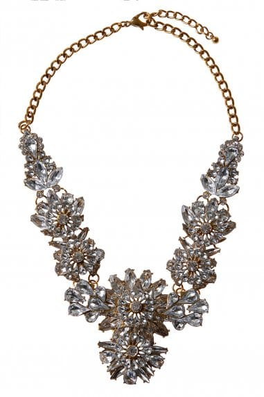 Cluster Jewelled Statement Necklace