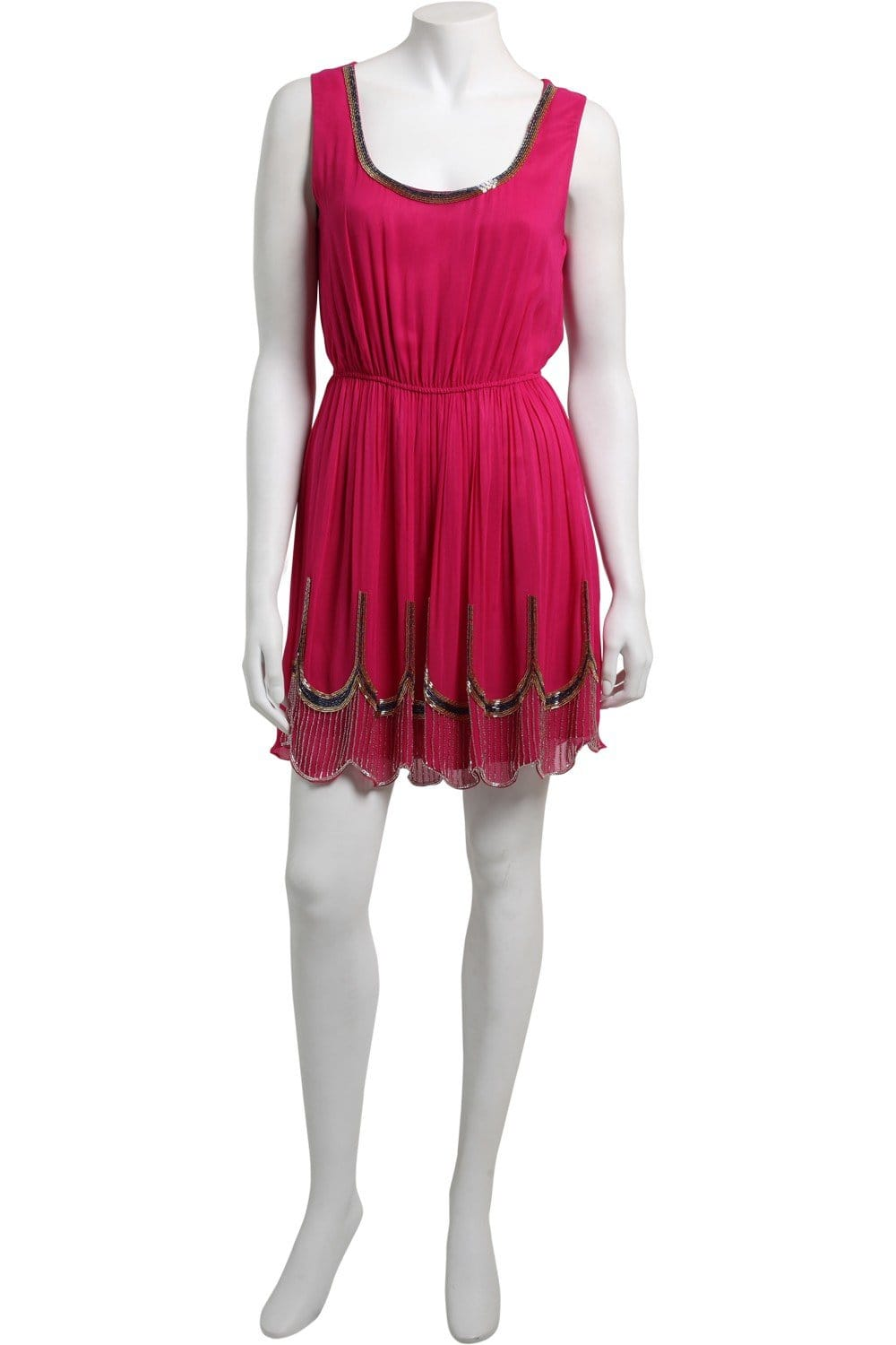 by pope fuchsia scallop beaded dress