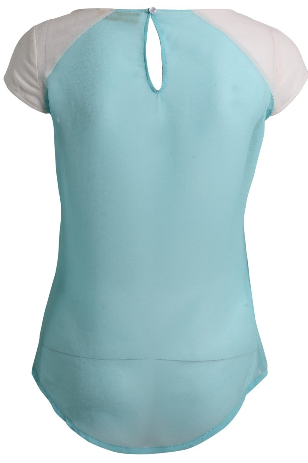 Little Mistress Turquoise Embroidery Anglaise Top