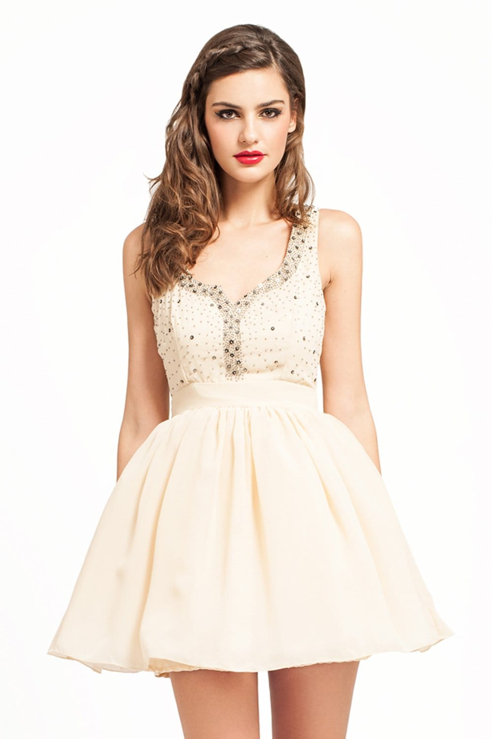 Cream Evening Dresses