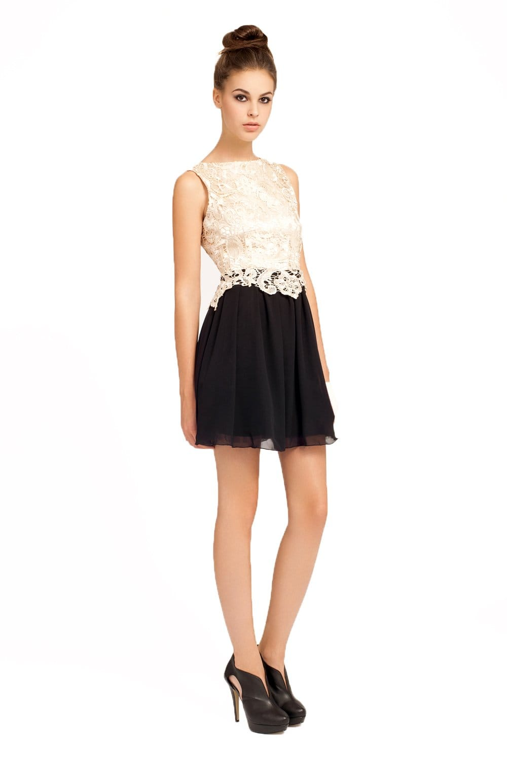 Little black dress lace overlay