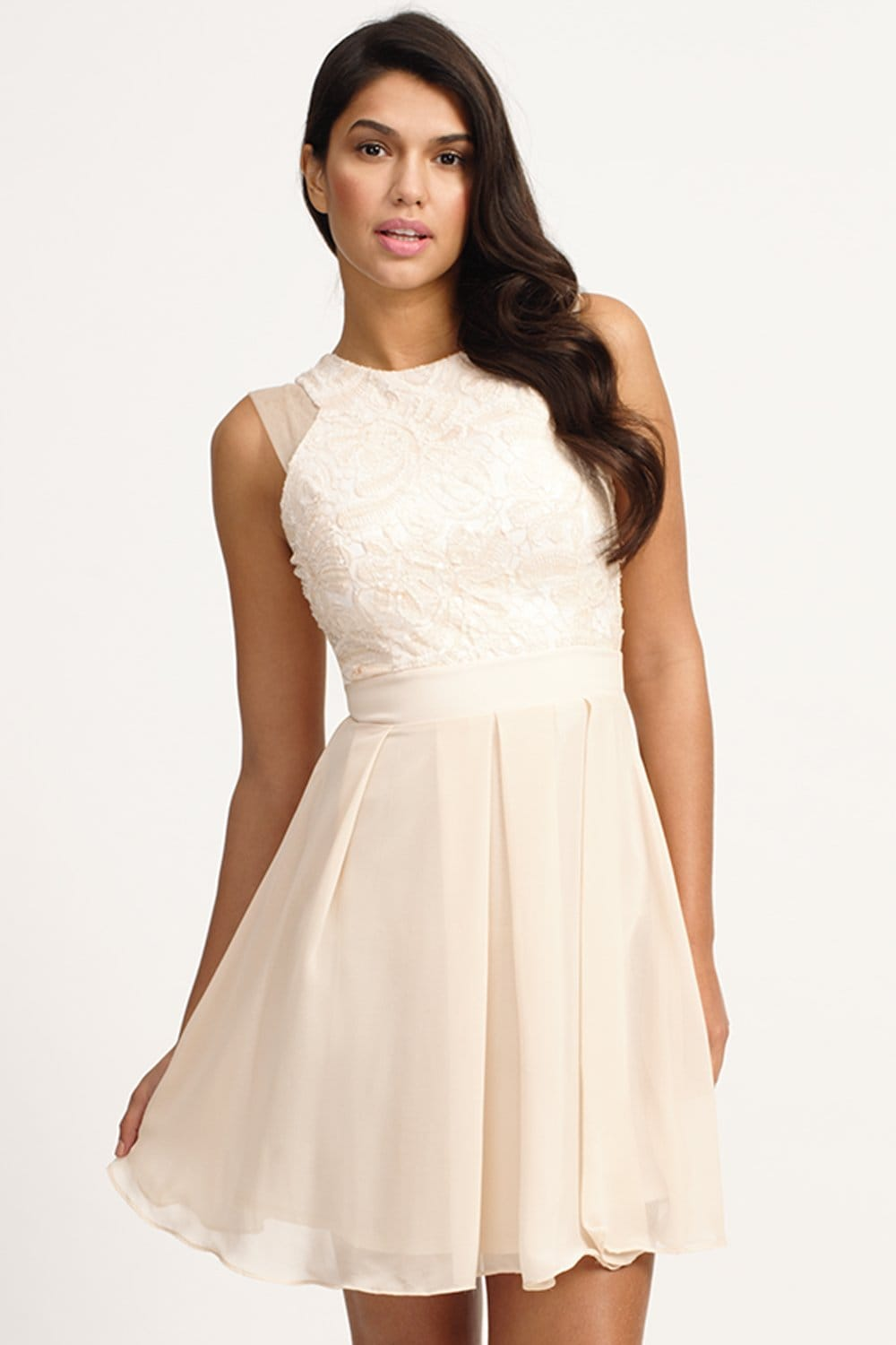 products lace flare dress