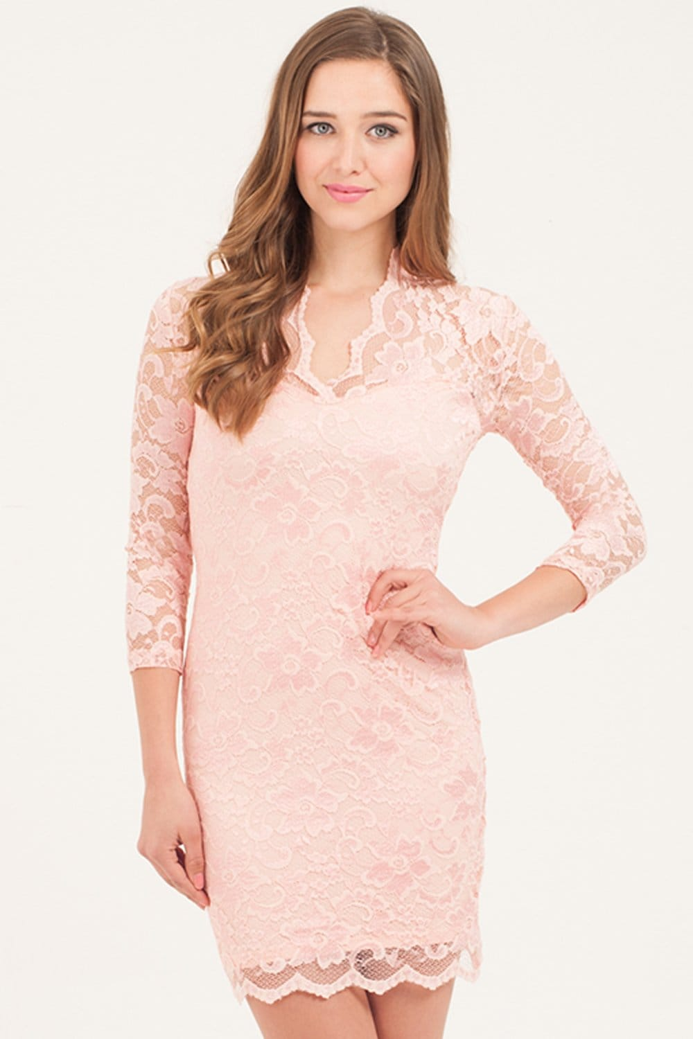 Pink lace summer dress matchless message