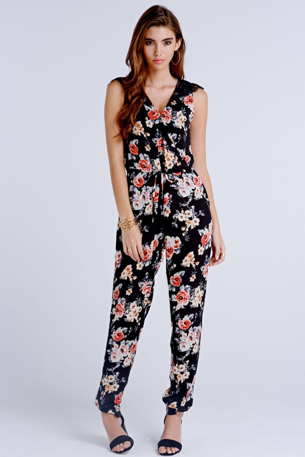 Floral Jumpsuits For Girls Images