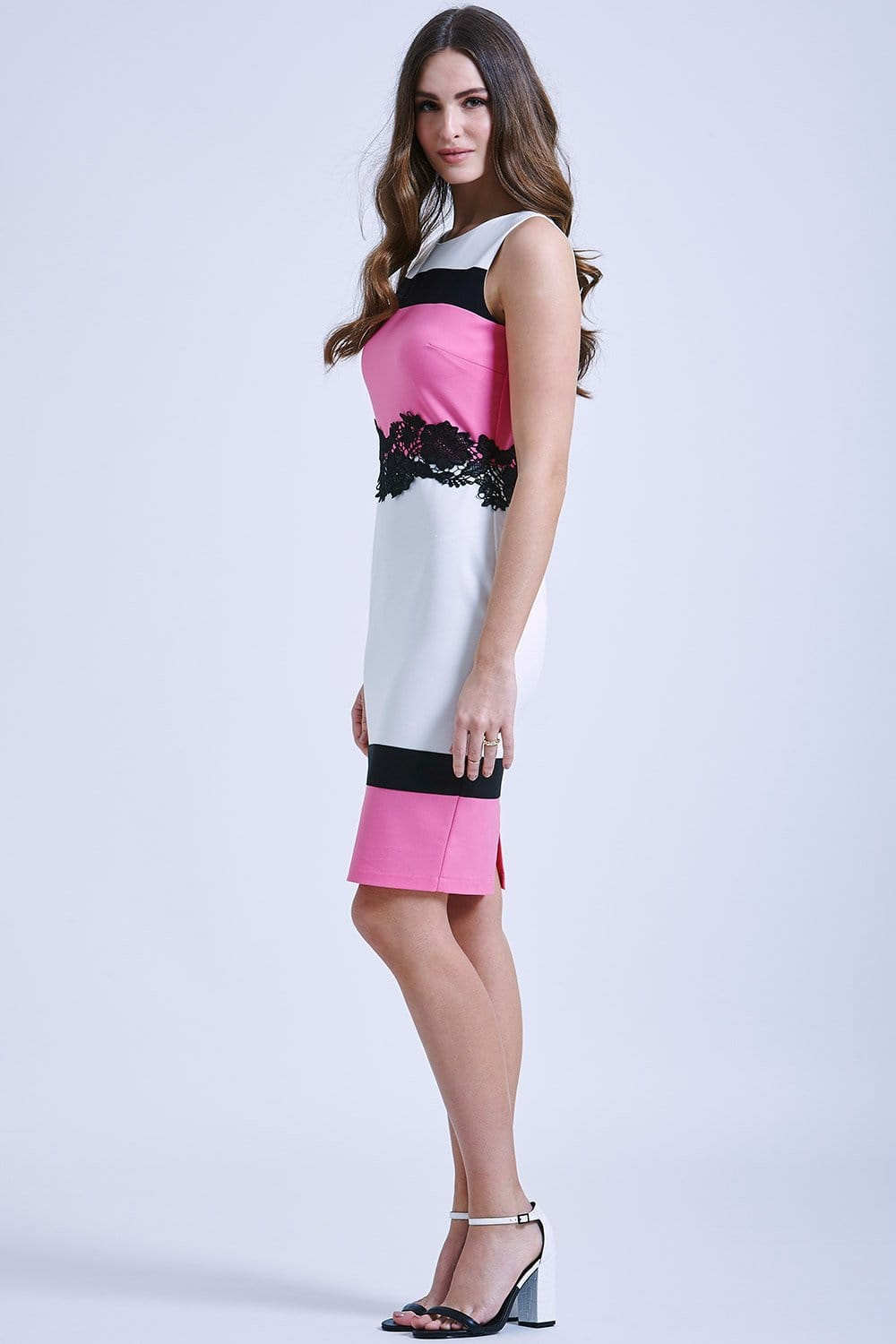 Black White And Pink Dress