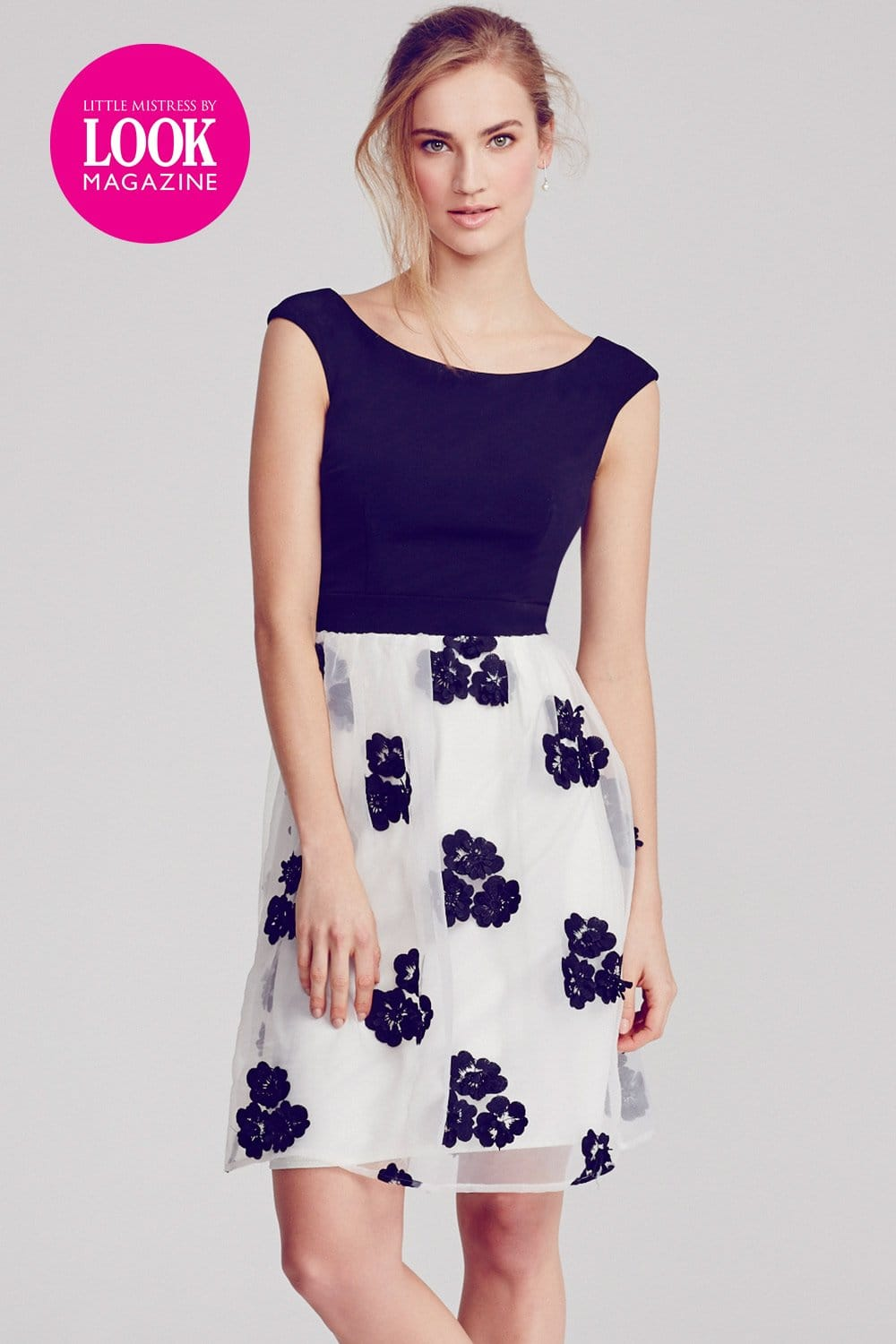 Outlet Little Mistress By Look Magazine Floral Mesh Fit