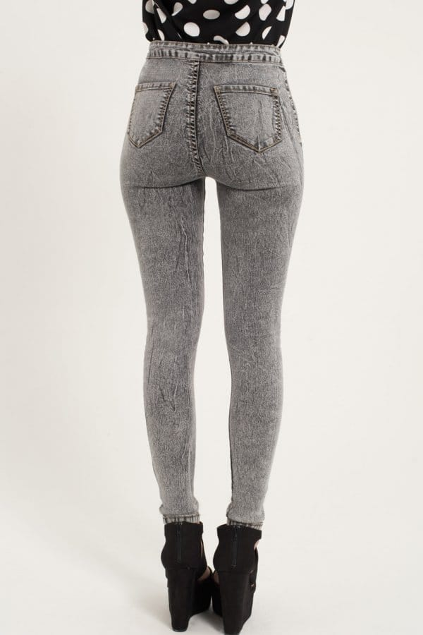Girls on Film Grey High Waisted Skinny Jeans - Girls On Film from ...