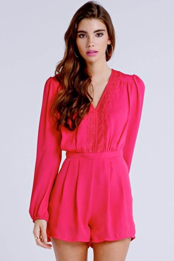 a6d4954a71 Outlet Girls On Film Pink Lace Front Playsuit - Outlet Girls On Film from Little  Mistress UK