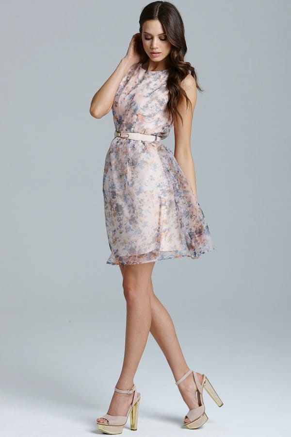 Floral Organza Prom Dress - from Little Mistress UK