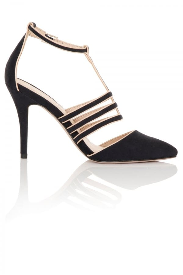 Stockists of Bess Navy Cage Heels