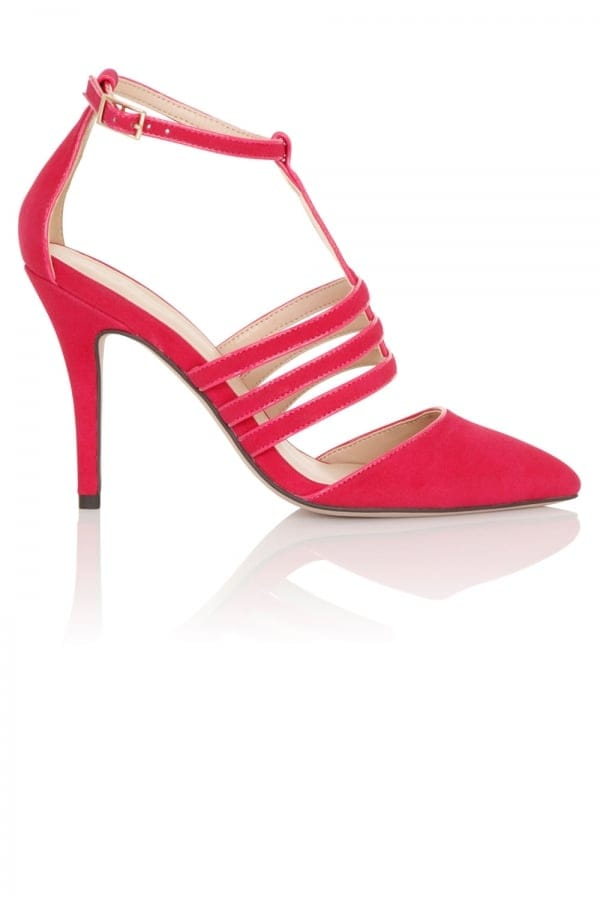 Stockists of Bess Pink Cage Heels