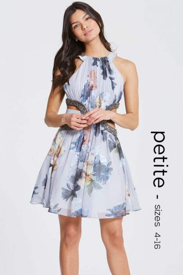 Floral print cut out prom dress from little mistress uk mightylinksfo
