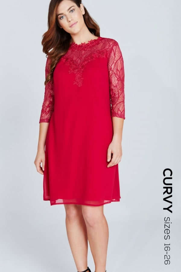 Stockists of Berry Lace Top Dress