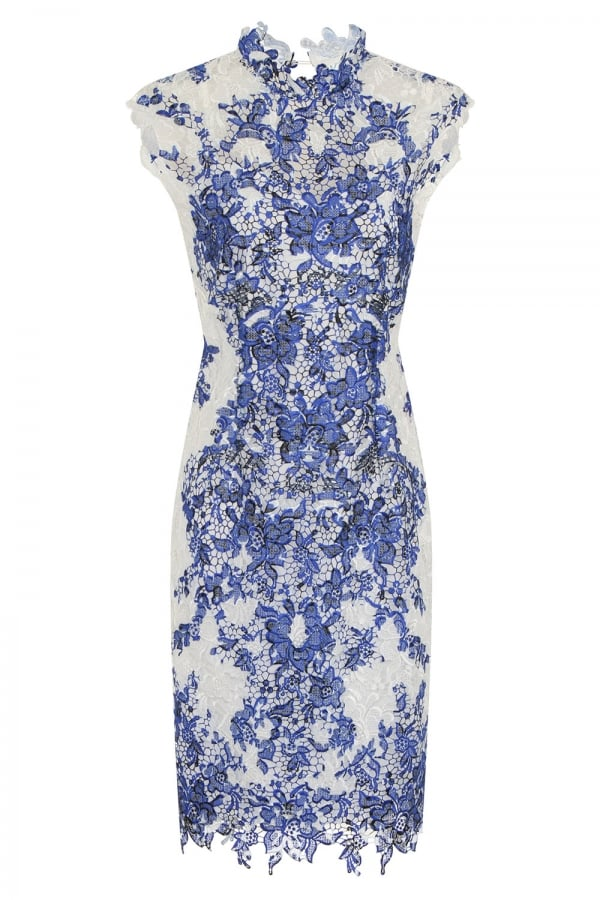 38a02944c047 Outlet Paper Dolls Blue and White Crochet Lace Dress - Outlet Paper Dolls  from Little Mistress UK