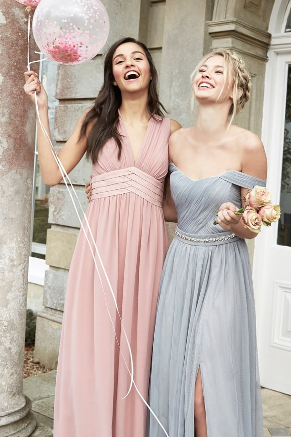Apricot Lace Maxi Dress - from Little Mistress UK