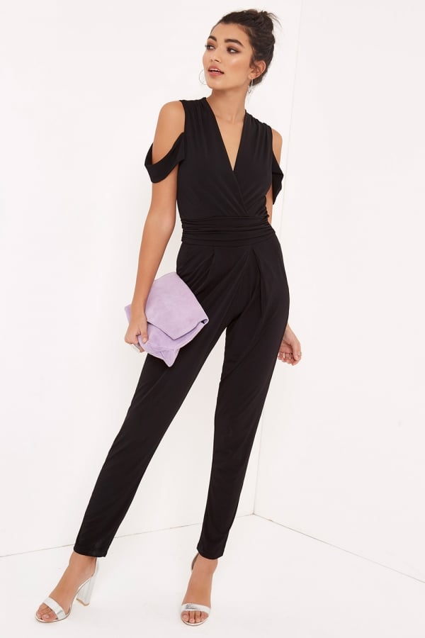 342339ae5360 Girls on Film Black Cold Shoulder Jumpsuit - Girls On Film from ...