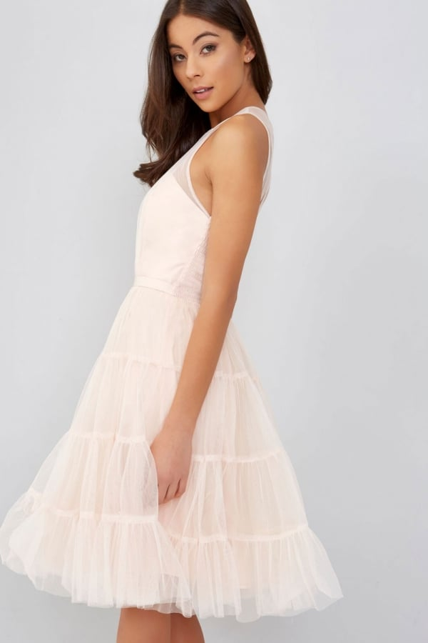 Tulle Nude Prom Dress - from Little Mistress UK