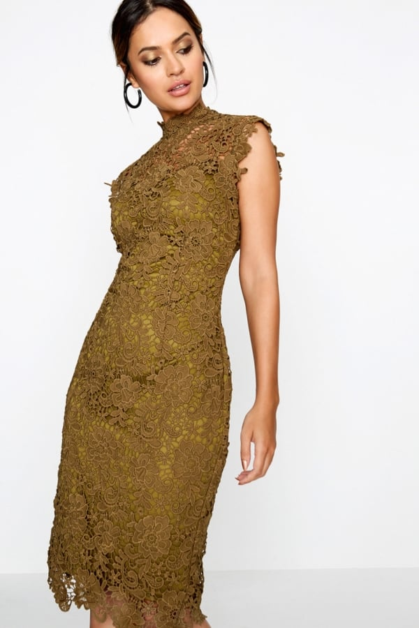 c73ccdf3401 Outlet Paper Dolls Khaki Crochet Dress - Outlet Paper Dolls from ...