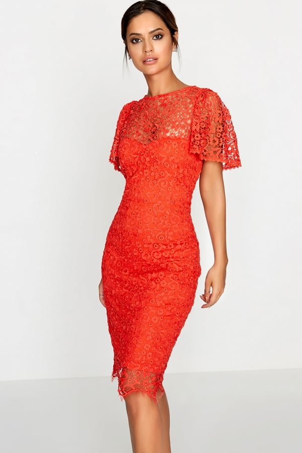 Orange Dress Lace