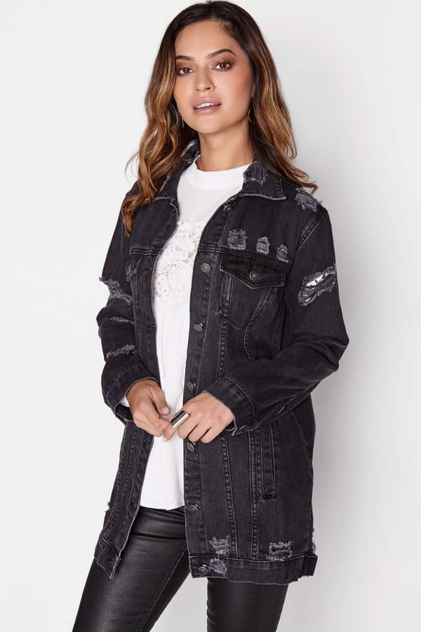 Outlet Girls On Film Black Denim Jacket - Outlet Girls On Film from ... 24ca3498b0fc