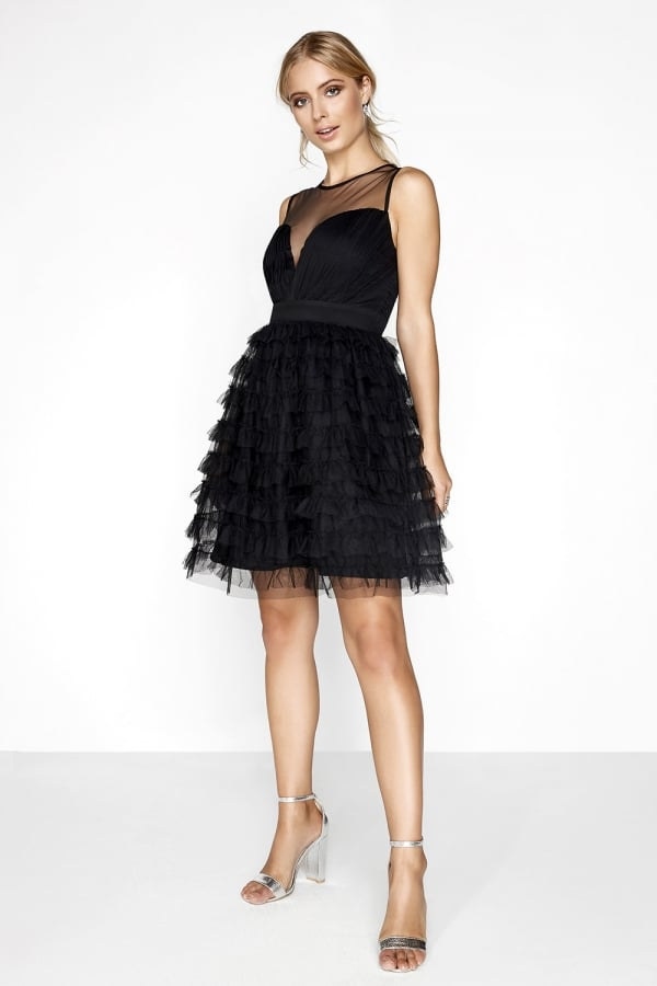 Black Ruffle Mini - INVISIBLE FOR ASOS - from Little Mistress UK