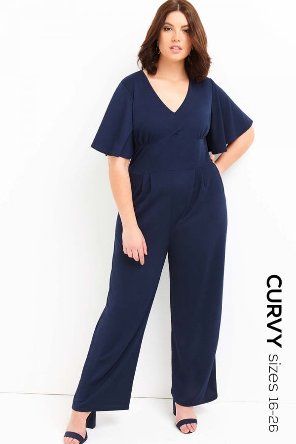 Outlet Girls On Film Navy Jumpsuit Outlet Girls On Film From