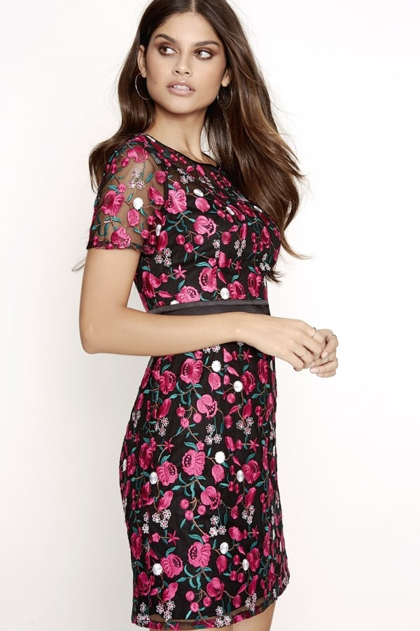 2d9835aee29 Outlet Girls On Film Pink Embroidered Dress - Outlet Girls On Film ...