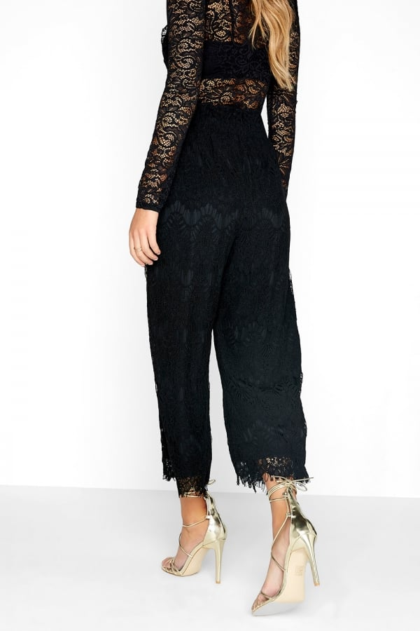 9c17389be58 Outlet Girls On Film Black Lace Culottes - Outlet Girls On Film from ...