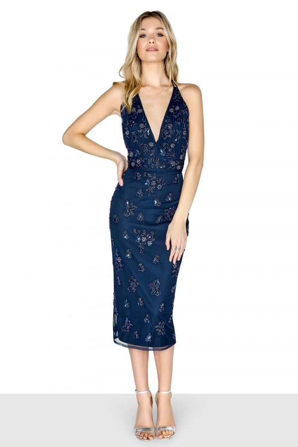 add365795c8d Navy Midi Dress - from Little Mistress UK