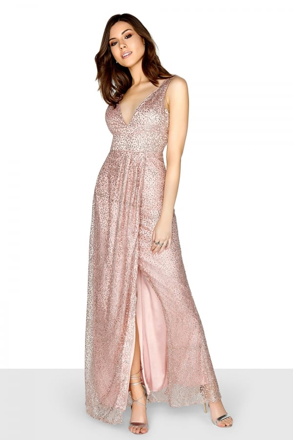 ad8976ee960 Pink Sequin Maxi - from Little Mistress UK