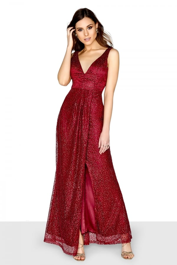 998b3077bec Little Mistress Red Glitter Maxi Dress - Little Mistress from Little ...