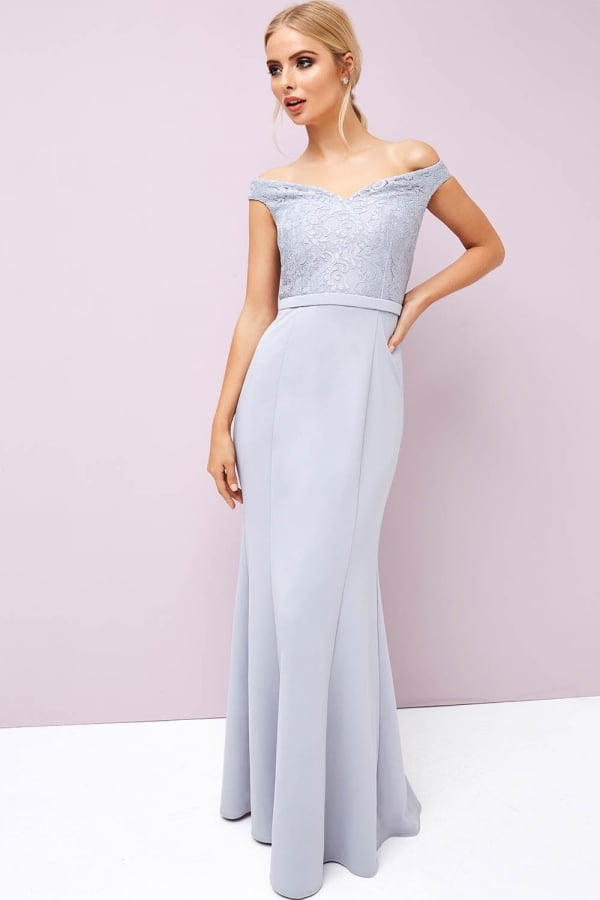 a2292fdc23c Grey Lace Maxi - from Little Mistress UK