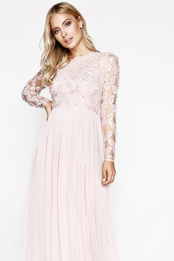 Pink Embroidery Dress