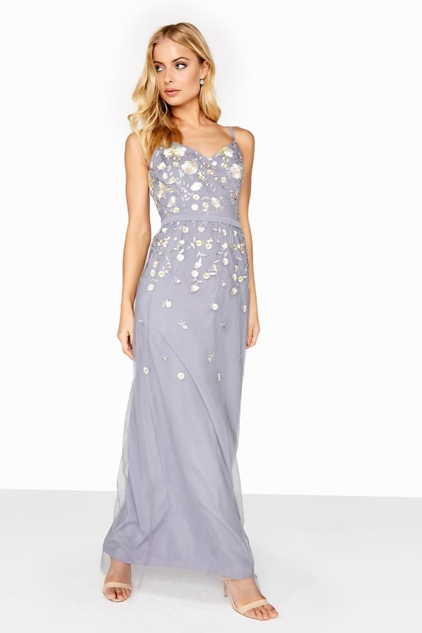 8a4f9870680 Embroidered Maxi Dress - from Little Mistress UK