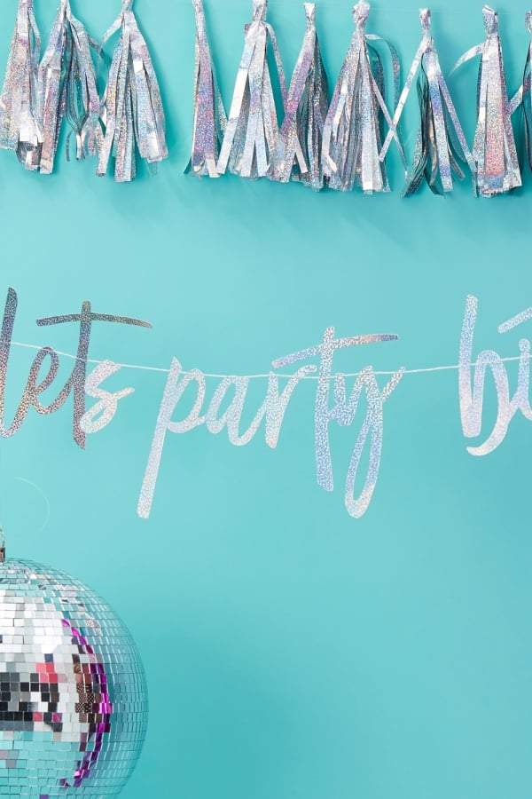 Image of 'Let's Party Bitches' Backdrop