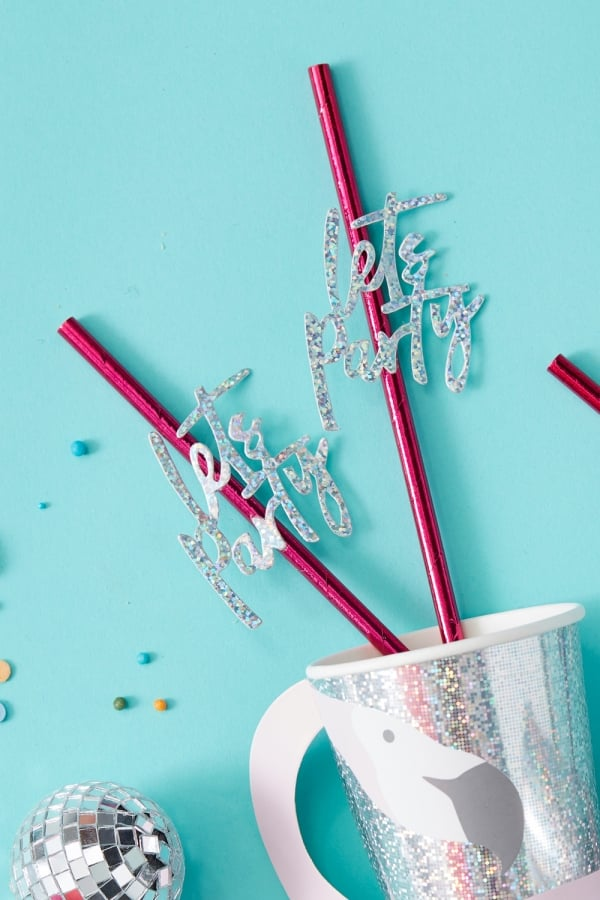 Image of 'Lets Party' Straws