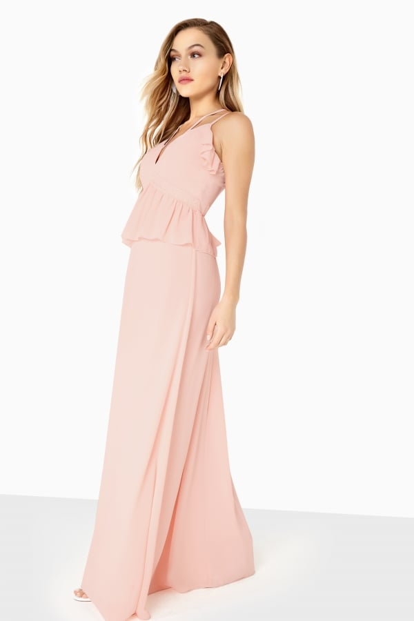 a7d052d0253 Girls on Film Frill Front Detail Chiffon Strappy Maxi - Girls On ...