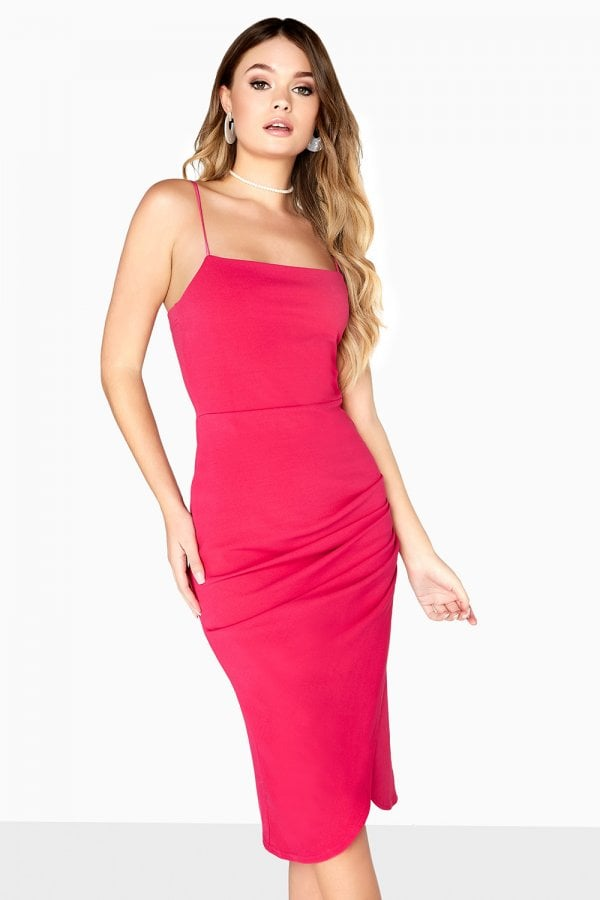 Robyn Square Cut Ruched Dress