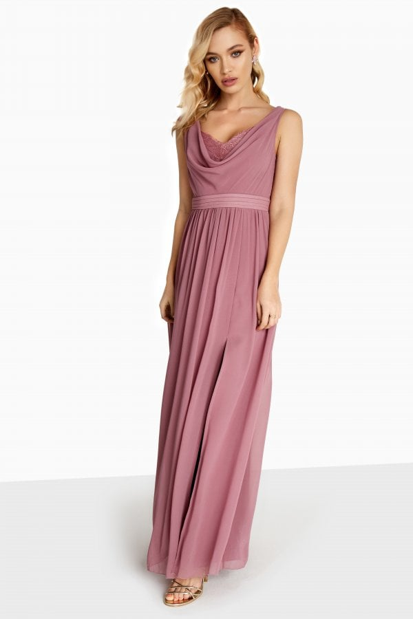 01195c86f33 Little Mistress Annabelle Cowl Neck Maxi Dress - Little Mistress ...