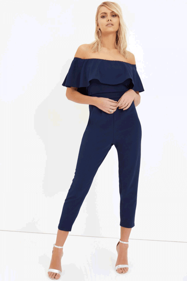 purchase authentic latest sale pretty nice Girls on Film Navy Jumpsuit