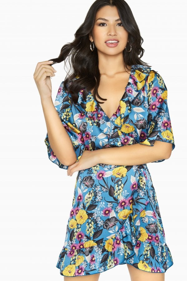 Neverland Button Wrap Dress