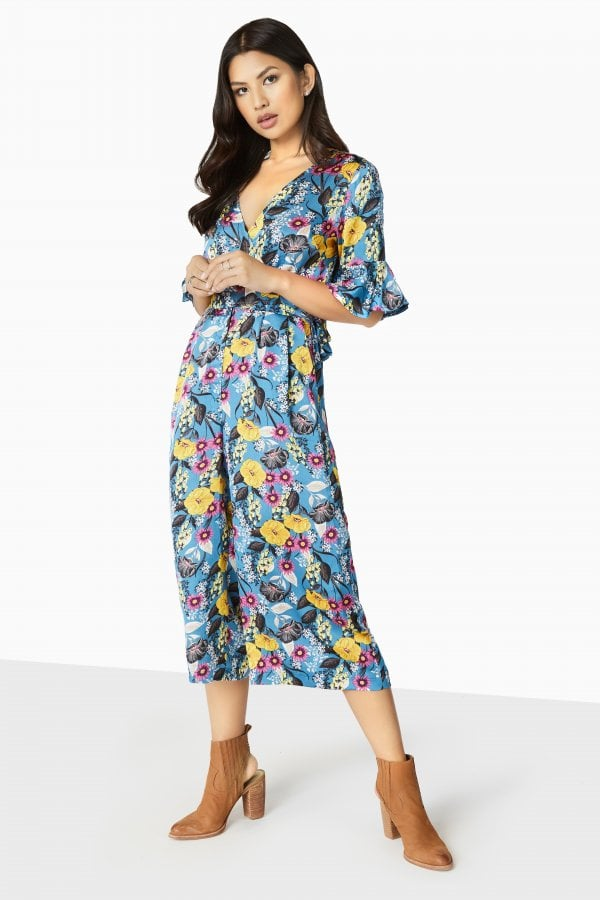 60502160fb18 Outlet Girls On Film Bittersweet Wrap Jumpsuit - Outlet Girls On ...