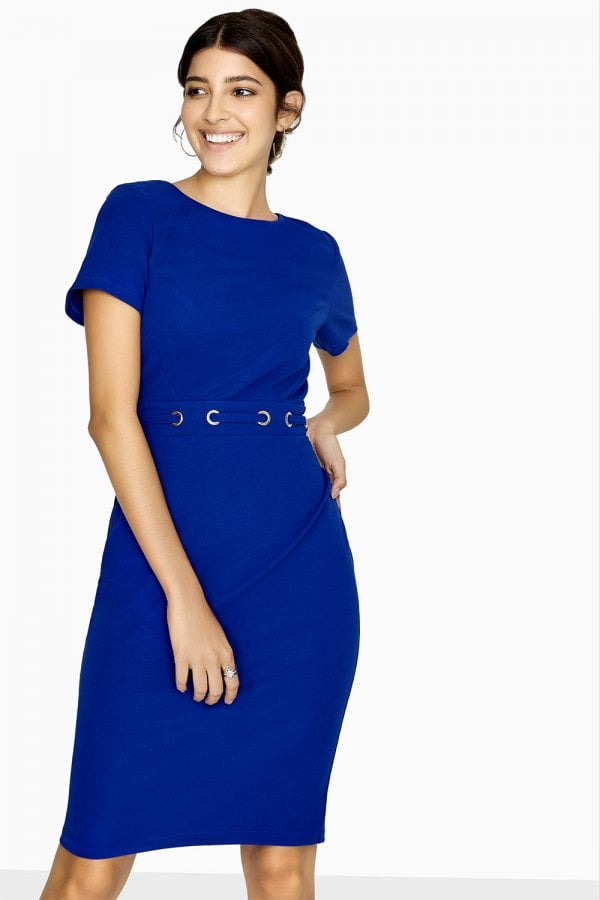 785b7f6a73c Outlet Paper Dolls Bayview Eyelet Waist Pencil Dress - Outlet Paper ...
