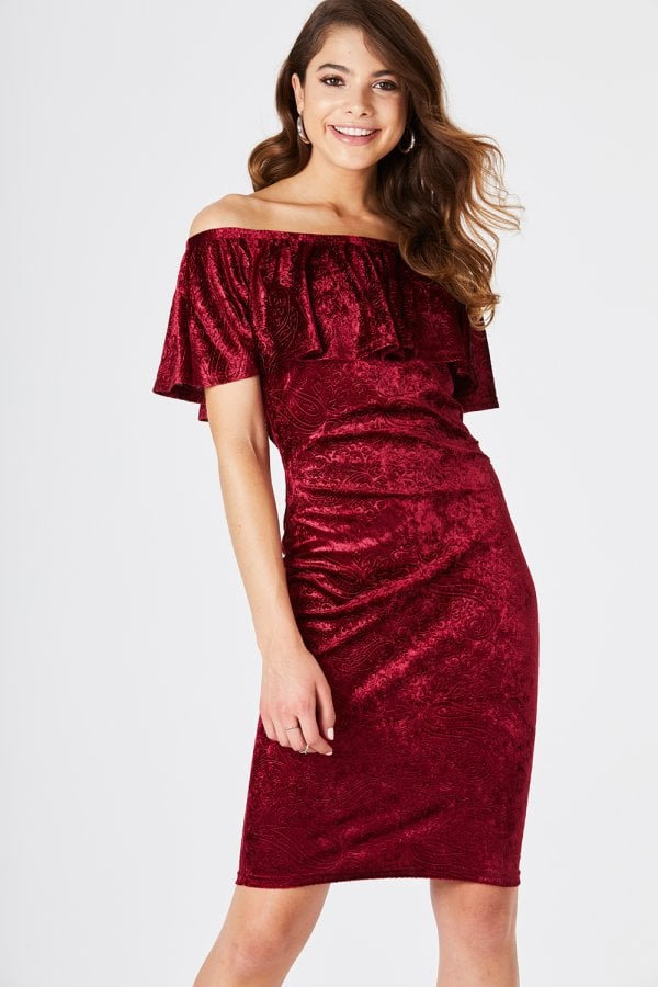 e9e474a671 Girls on Film Fulton Red Velvet Bodycon Dress - Girls On Film from ...