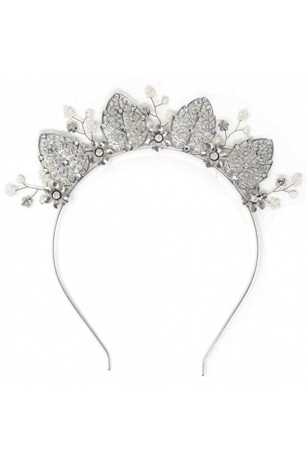 Silver Occasion Crown Headband