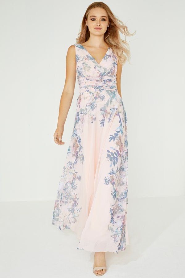 Arly Mock Wrap Maxi Dress In Floral