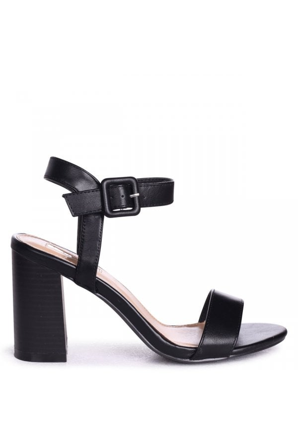 210ab051cb5 ... Linzi Kate Black Nappa Open Toe Stacked Block Heels With Ankle  Strapsclass  ...