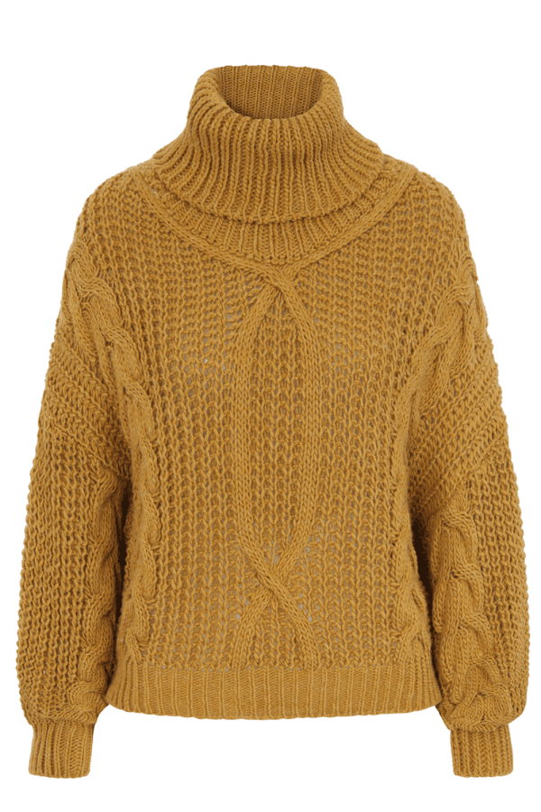 d40df64fd9 Marley Mustard Cable-Knit Jumper